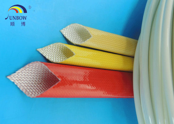 Chine Waterproof Polyurethane Fiberglass braided Insulation electrical sleeving For F grade electric motor#SB-PUGS fournisseur