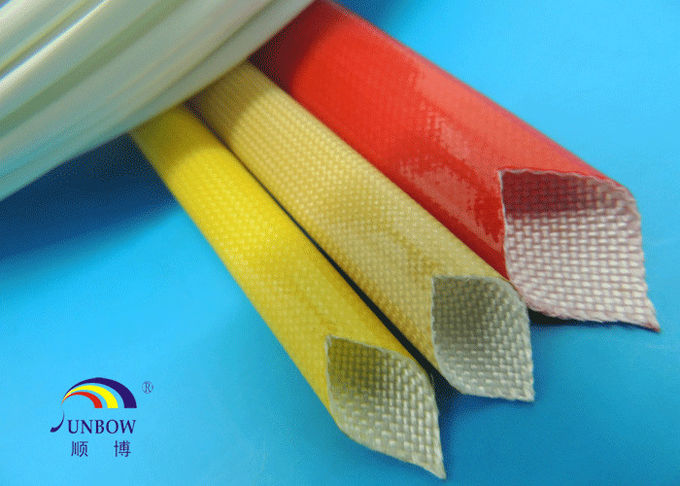 Waterproof Polyurethane Fiberglass braided Insulation electrical sleeving For F grade electric motor#SB-PUGS